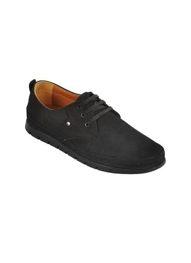 Ayakmod 2035 Hakiki Deri Nubuk Siyah Erkek Günlük Ayakkabı Siyah